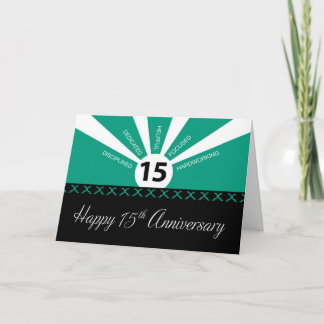 15th Year Employee Business Anniversary, Green Card