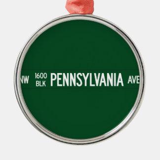 1600 avenida de Pennsylvania señal de tráfico WA