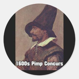 1600s Pimp 1 Classic Round Sticker