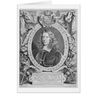 1608-57) archiduques de Fernando III (de Austria,  Tarjeta De Felicitación