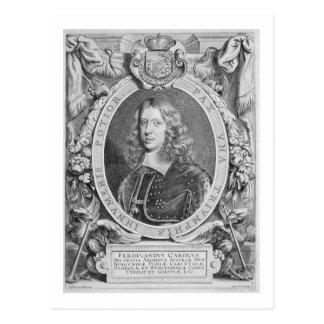 1608-57) archiduques de Fernando III (de Austria, Tarjeta Postal