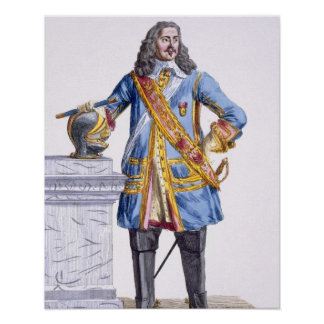 1608-70) duques de George Monke (de Albermarle de  Póster