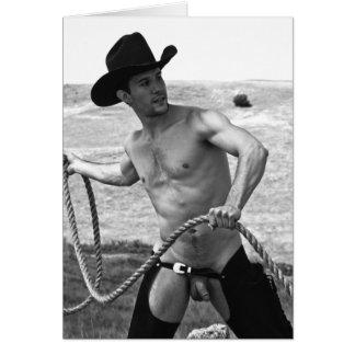16092bw-RA Cowboy Card