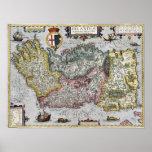 1609 Ireland Map Poster