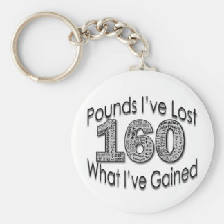 160 Pounds Lost Keychain