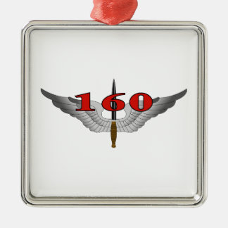 160o Regimiento de la aviación de las operaciones Adorno Navideño Cuadrado De Metal
