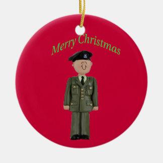 160o regimiento de las operaciones especiales del adorno navideño redondo de cerámica