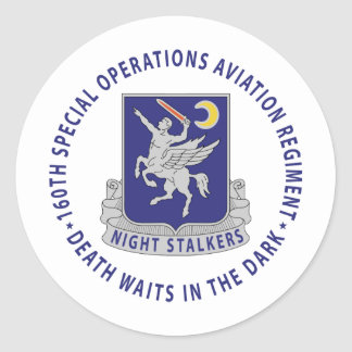 160th SOAR - Night Stalkers Classic Round Sticker