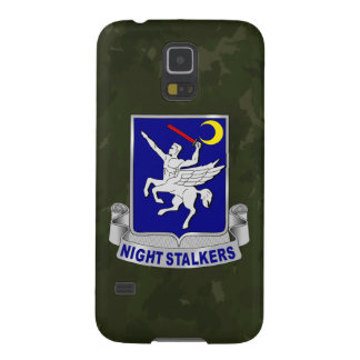 "160th SOAR ""Night Stalkers"" Dark Green Camo Case For Galaxy S5"