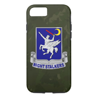 "160th SOAR ""Night Stalkers"" Dark Green Camo iPhone 8/7 Case"