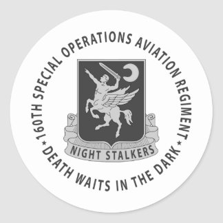 160th SOAR - Subdued Classic Round Sticker