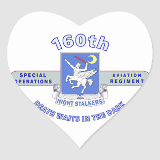 160TH SPECIAL OPERATION AVIATION REGIMENT SOAR HEART STICKER