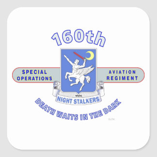 160TH SPECIAL OPERATION AVIATION REGIMENT SOAR SQUARE STICKERS