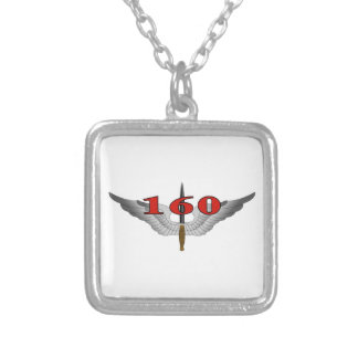 160th Special Operations Aviation Regiment (SOAR) Silver Plated Necklace