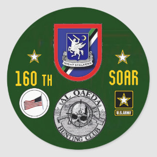160th Special Operations Aviation Regiment Round Stickers