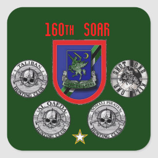 160th Special Operations Aviation Regiment Square Stickers