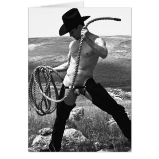 16178bw-RA Cowboy Card