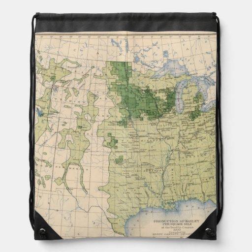 161 Barley/sq mile Drawstring Backpack