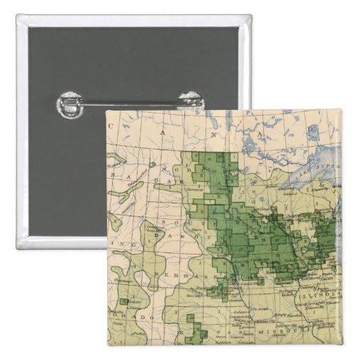 161 Barley/sq mile Pinback Button