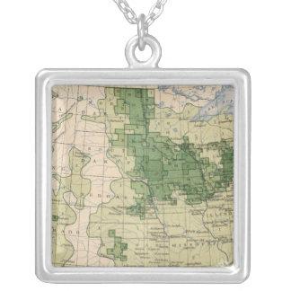 161 Barley/sq mile Square Pendant Necklace