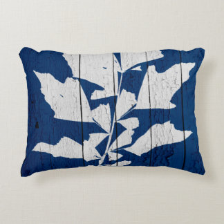 1620DarkBluePalm6 Accent Pillow