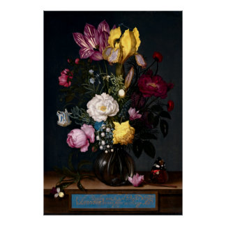 1621 BOUQUET of FLOWERS in a VASE Poster