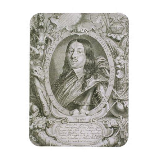 1622-60) reyes de Karl X Gustavo (de Suecia, del ' Iman Rectangular
