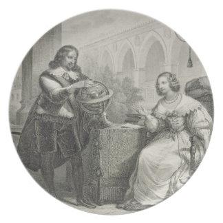 1626-89 reinas de Christina de Suecia de una se Plato