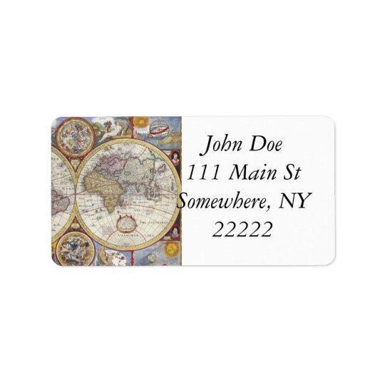 1626 Vintage World Map Label Zazzle Com