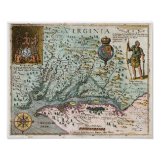 1627 Virginia Map Posters