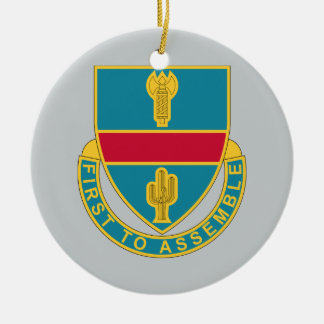 162nd Infantry Regiment - First To Assemble Ceramic Ornament
