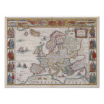 1630 Map of Europe Print
