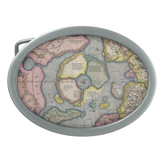 1630 North America Oval Belt Buckle