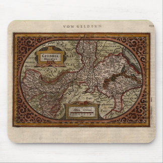 1631 Map: Geldria Ducatus by Mercator-Hondius Mouse Pad