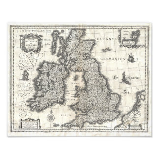 1631 Map of the British Isles by Joan Blaeu Photo Print