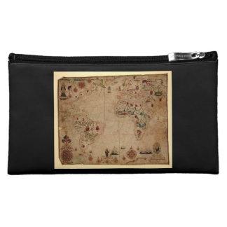 1633 Atantic Ocean Portolan Chart - Pascoal Roiz Cosmetics Bags