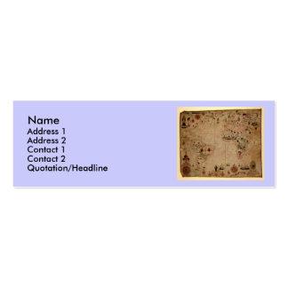 1633 Atantic Ocean Portolan Chart - Pascoal Roiz Double-Sided Mini Business Cards (Pack Of 20)