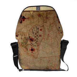 1633 Atantic Ocean Portolan Chart - Pascoal Roiz Courier Bags
