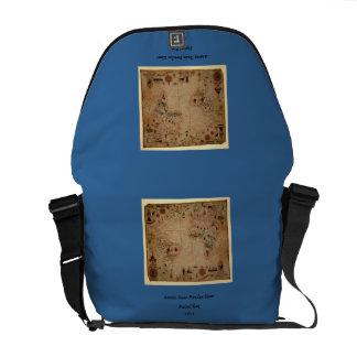 1633 Atantic Ocean Portolan Chart - Pascoal Roiz Commuter Bags
