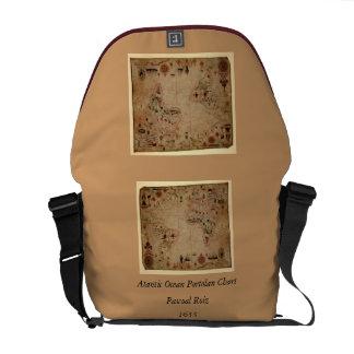 1633 Atantic Ocean Portolan Chart - Pascoal Roiz Commuter Bag