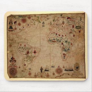 1633 Atantic Ocean Portolan Chart - Pascoal Roiz Mouse Pad