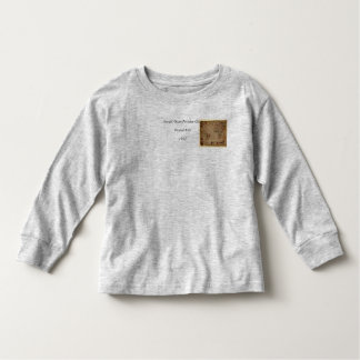 1633 Atantic Ocean Portolan Chart - Pascoal Roiz Toddler T-shirt