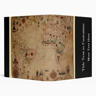 "1633 carta de Portolan del océano de Atantic - Carpeta 1"""