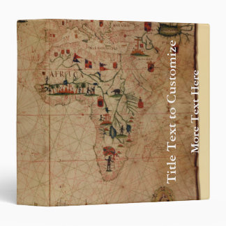 "1633 carta de Portolan del océano de Atantic - Carpeta 1 1/2"""
