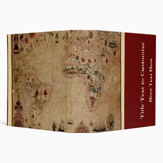 "1633 carta de Portolan del océano de Atantic - Carpeta 2"""