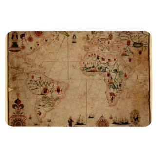 1633 carta de Portolan del océano de Atantic - Imán