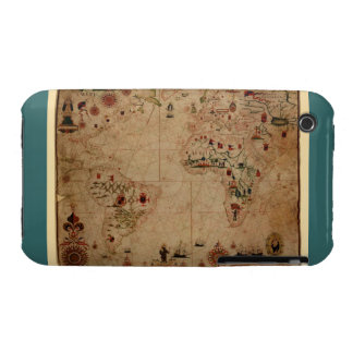 1633 carta de Portolan del océano de Atantic - iPhone 3 Carcasa