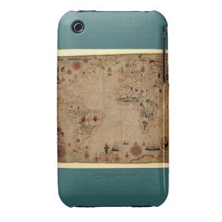 1633 carta de Portolan del océano de Atantic - iPhone 3 Case-Mate Coberturas