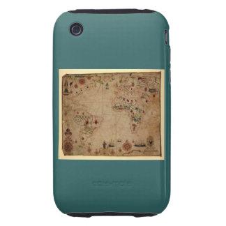 1633 carta de Portolan del océano de Atantic - iPhone 3 Tough Carcasa
