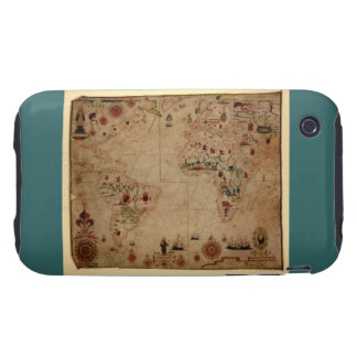 1633 carta de Portolan del océano de Atantic - iPhone 3 Tough Carcasas